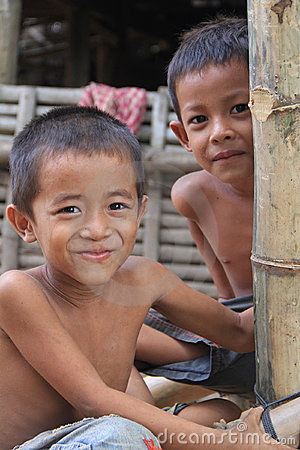 Cambodian Boys Editorial Photo