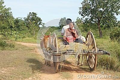 Cambodian Cart Editorial Image
