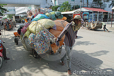Cambodian Cart at Poipet Editorial Stock Photo