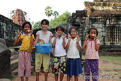 Cambodian Children Editorial Stock Image