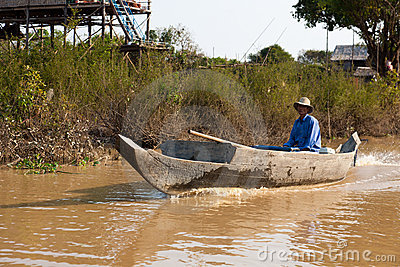 Cambodian floating village Editorial Image