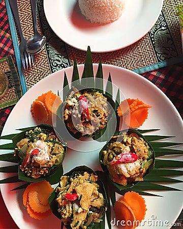Free Cambodian Food Layout Stock Photo - 124983260