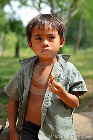 Cambodian Kid Editorial Stock Photo