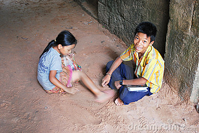 Cambodian kids Editorial Photography
