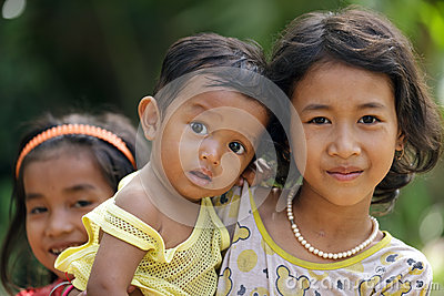 Cambodian kids Editorial Stock Image