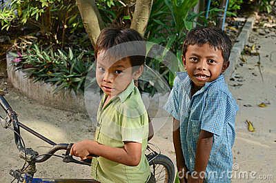 Cambodian kids Editorial Image