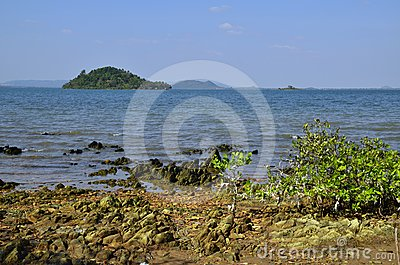 Cambodian mainland from Rabbit Island