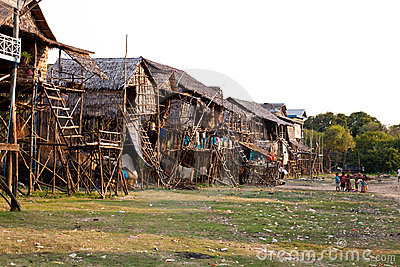 Cambodian village Editorial Stock Photo