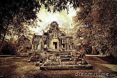 Cambodjaanse tempelruïnes