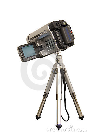 Free Camcorder On A Tripod Stock Photography - 397022