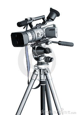 Free Camcorder On A Tripod Royalty Free Stock Photos - 8597658
