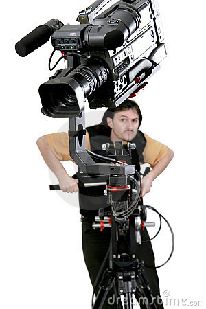 Free Camcorder On Crane Stock Image - 5359431