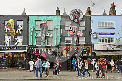Camden High Street in London, United Kingdom Editorial Stock Photo