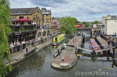Camden Lock in London, United Kingdom Editorial Stock Photo