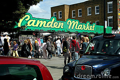 Camden Market in London Editorial Photo