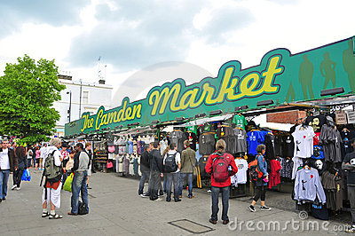 Camden Market in London, United Kingdom Editorial Photo