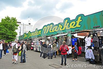 Camden Market in London, United Kingdom Editorial Photo