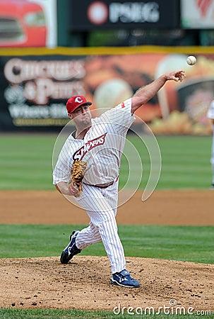 Camden Riversharks J.R. Mathes pitcher Editorial Photo
