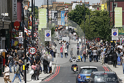 Camden Town, Market, London Editorial Stock Photo