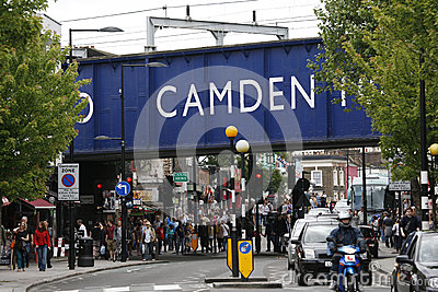 Camden Town, Market, London Editorial Photo