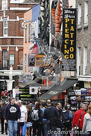 Camden Town, Market, London Editorial Stock Photo