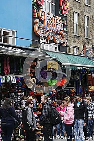 Camden Town, Market, London Editorial Stock Image