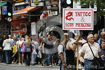 Camden Town, Market, London Editorial Photography