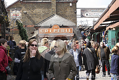 Camden Town, Market, London Editorial Stock Image