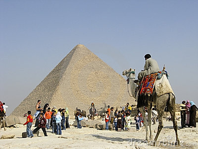 Camel Handler at Giza Editorial Stock Image