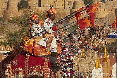 Camel Mounted Lancers Editorial Stock Image
