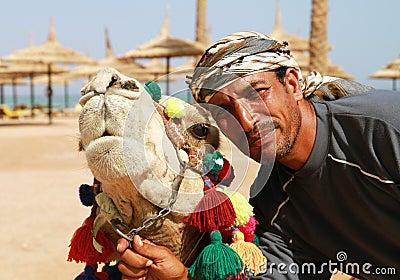 Camel owner portrait