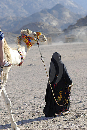 Camel ride - berberian woman