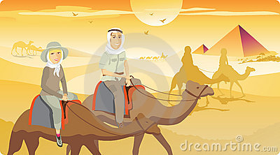 Camel Ride in Desert