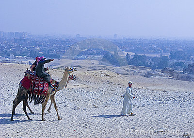 Camel Ride at Giza Editorial Image