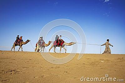 Camel riding, Thar Desert, India Editorial Image