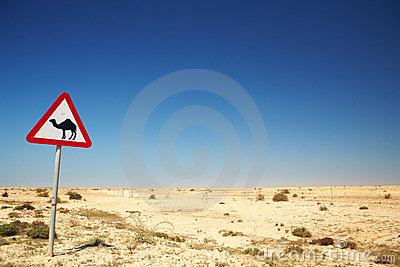 Camel warning sign