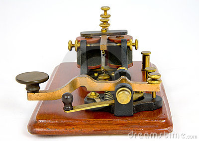 Camelback antique Morse key