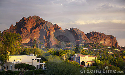 Camelback Mountain in Scottsdale,Arizona