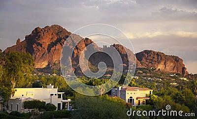 Camelback Mountain in Scottsdale,Arizona
