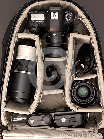 Free Camera Bag Royalty Free Stock Image - 55135276