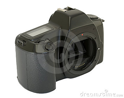 Camera body on white background