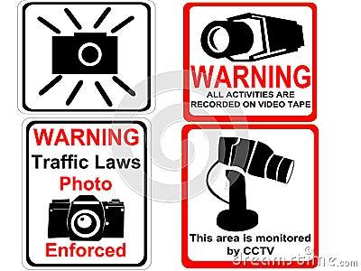 Camera and CCTV signs