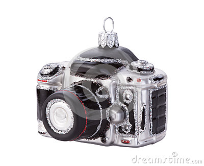 Camera Christmas Ornament Isolated