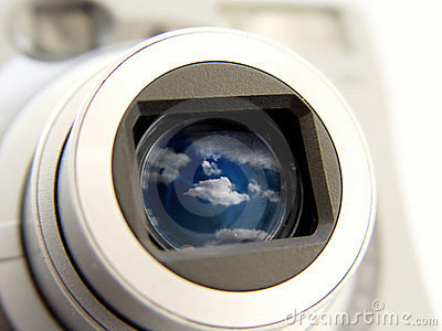Camera with Clouds in the Len