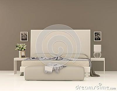 Camera da letto beige fotografia stock   immagine: 27032912