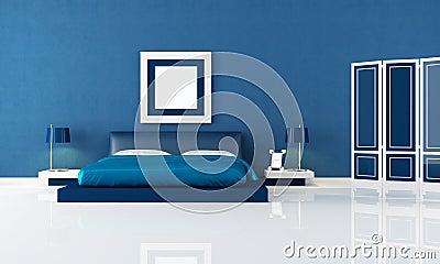 Camera Da Letto Moderna Blu Immagini Stock - Immagine: 13859684