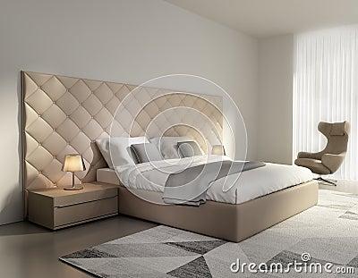 Camera da letto di lusso con i fiori fotografia stock libera da ...