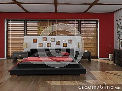 Fotografia stock: zen style bedroom. immagine: