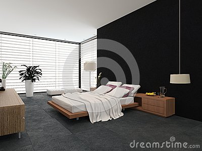 Decorazione moderna della camera da letto fotografie stock libere ...