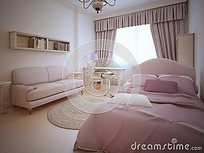 Camera da letto classica della ragazza dell'adolescente ...